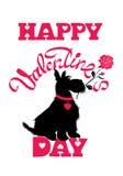 Scheda di festa Biglietti di S. Valentino felici calligrafici del testo scritto della mano Immagini Stock Libere da Diritti