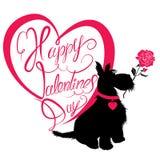 Scheda di festa Biglietto di S. Valentino felice calligrafico del testo scritto della mano Fotografia Stock Libera da Diritti