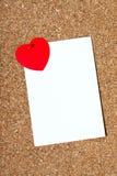 Scheda di festa con un cuore fotografia stock libera da diritti