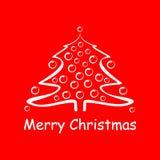 Scheda di festa di Buon Natale Fotografie Stock Libere da Diritti