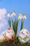 Scheda di festa di Pasqua fotografia stock libera da diritti