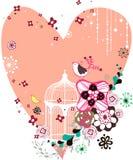 Scheda di figura di amore della flora illustrazione di stock