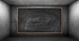 Scheda di gesso in bianco Fotografia Stock Libera da Diritti