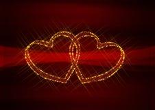 Scheda di giorno dei biglietti di S. Valentino Fotografie Stock