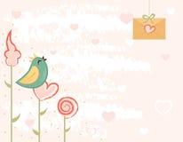 Scheda di giorno dei biglietti di S. Valentino Fotografia Stock