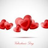 Scheda di giorno dei biglietti di S. Valentino Fotografia Stock Libera da Diritti