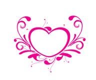 Scheda di giorno del biglietto di S. Valentino Fotografie Stock Libere da Diritti