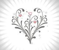 Scheda di giorno del biglietto di S. Valentino Immagini Stock Libere da Diritti