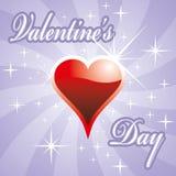 Scheda di giorno del biglietto di S. Valentino Immagini Stock