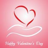 Scheda di giorno del biglietto di S. Valentino Fotografie Stock
