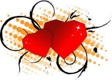 Scheda di giorno del biglietto di S. Valentino. Immagini Stock