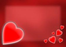 Scheda di giorno del biglietto di S. Valentino Immagine Stock