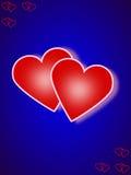 Scheda di giorno del biglietto di S. Valentino Fotografia Stock