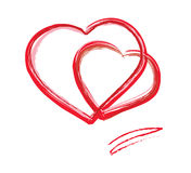 Scheda di giorno del biglietto di S. Valentino. eps10 Immagini Stock Libere da Diritti