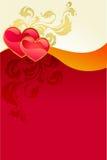 Scheda di giorno del biglietto di S. Valentino rosso Fotografie Stock Libere da Diritti