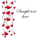 Scheda di giorno del `s del biglietto di S. Valentino Fotografia Stock