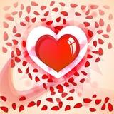 Scheda di giorno del `s del biglietto di S. Valentino Fotografie Stock Libere da Diritti