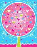 Scheda di giorno del `s del biglietto di S. Valentino illustrazione di stock