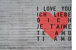 Scheda di giorno della st Valentin - amore concreto Immagine Stock Libera da Diritti