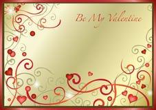 Scheda di giorno di biglietti di S. Valentino Immagine Stock Libera da Diritti