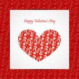 Scheda di giorno di biglietti di S. Valentino Fotografia Stock Libera da Diritti
