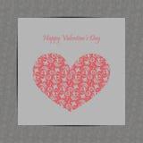 Scheda di giorno di biglietti di S. Valentino Fotografie Stock