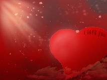 Scheda di giorno di biglietti di S. Valentino fotografie stock libere da diritti