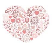 Scheda di giorno di biglietti di S. Valentino Immagini Stock Libere da Diritti