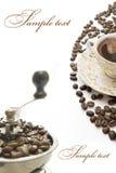 Scheda di greatings del caffè Immagine Stock Libera da Diritti