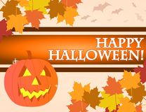 Scheda di Halloween Fotografie Stock Libere da Diritti