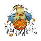 Scheda di Halloween Fotografia Stock