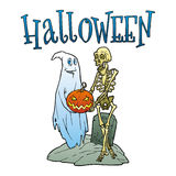 Scheda di Halloween Immagini Stock Libere da Diritti