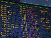 Scheda di informazioni dell'aeroporto fotografia stock