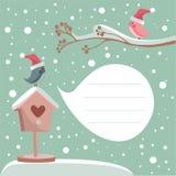 Scheda di inverno con il posto per il vostro testo Immagine Stock Libera da Diritti