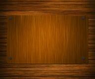 Scheda di legno del segno Immagine Stock