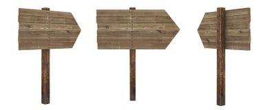 Scheda di legno di freccia Fotografie Stock