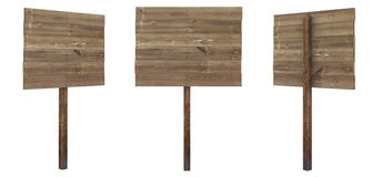 Scheda di legno di rettangolo Immagini Stock