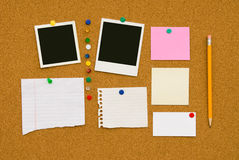 Scheda di messaggio Fotografie Stock