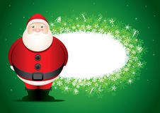 Scheda di messaggio della Santa. illustrazione di stock