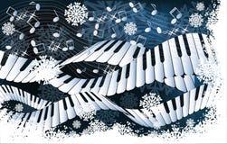 Scheda di musica di inverno Fotografie Stock Libere da Diritti