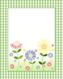Scheda di nota floreale Fotografia Stock