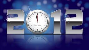 Scheda di nuovo anno 2012 Fotografie Stock
