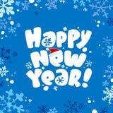Scheda di nuovo anno. illustrazione di stock