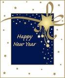 Scheda di nuovo anno illustrazione vettoriale