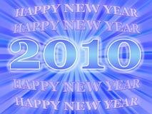 Scheda di nuovo anno Immagine Stock