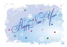 Scheda di nuovo anno Fotografie Stock