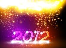 Scheda di nuovo anno felice 2012 Fotografia Stock Libera da Diritti