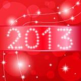 Scheda di nuovo anno felice 2013. Fotografie Stock Libere da Diritti