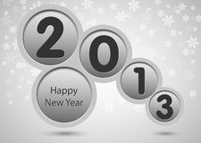 scheda di nuovo anno felice 2013 Fotografie Stock