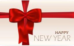 Scheda di nuovo anno felice Fotografia Stock Libera da Diritti